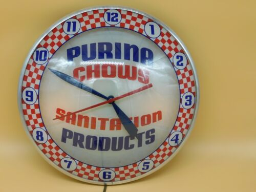 Vintage All Original Purina Chows Sanitation Products Double Bubble Clock
