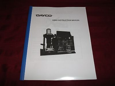 Dayco Wb60 Hydraulic Hose Crimper Machine Operators Instruction Manual