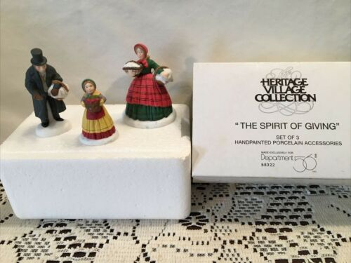 Heritage Village Collection The Spirit Of Giving Christmas Characters 3 pc set