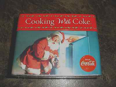 COOKING WITH COKE - 78 RECIPE CARDS/5 DIVIDERS/22 BLANK CARDS IN HINGED TIN