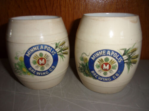 ANTIQUE PRE PROHOBITION MINNEAPOLIS BREWING CO BEER MUG GLASS