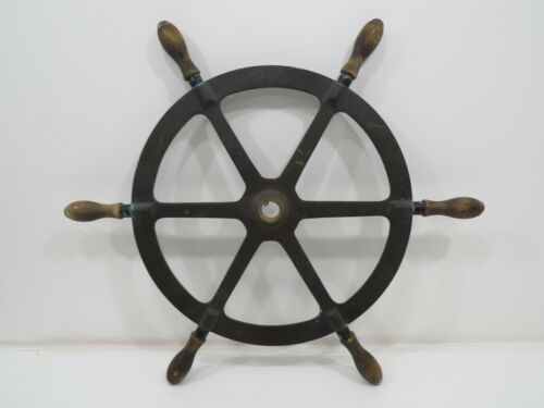23+1/2 inch Bronze And Wood Ship Wheel (L5-831)
