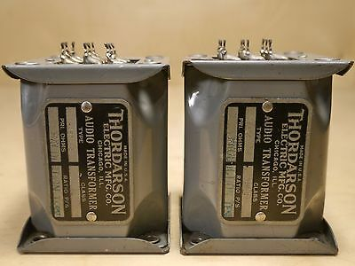 THORDARSON T-45412A INPUT, TRANSFORMERS (2) TUBE MIC PREAMP