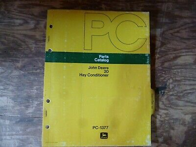 John Deere 20 Hay Conditioner Parts Catalog Manual Book Original Pc-1377