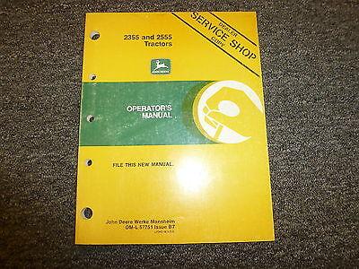 John Deere 2355 2555 Utility Tractor Owner Owners Operator Manual Oml57751