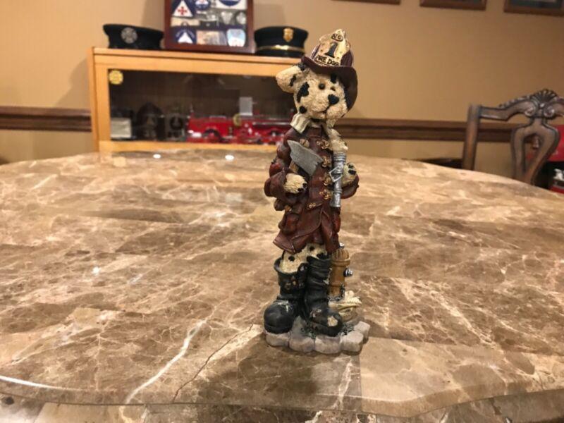Firefighting Figurine - Boyd's Bears The Folkstone Collection - Sparky McPlug