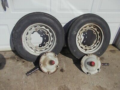 Ford 8n Series Tractor Steering Spindle Shafts Hub Hubs 5 Bolt 16 Rims Tires