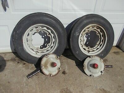 Ford 8n Series Tractor Steering Spindle Shafts Hub Hubs 5 Bolt 16 Rims Tires