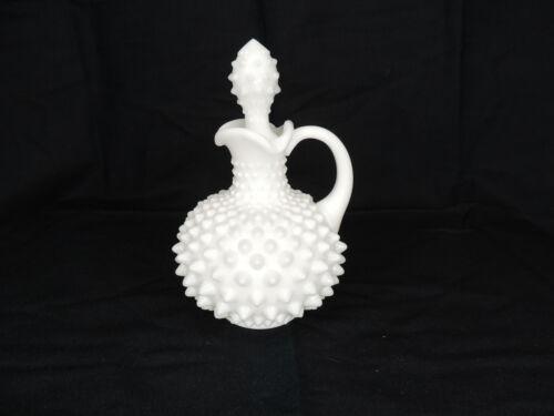 Vintage Fenton White Milk Glass Hobnail Cruet