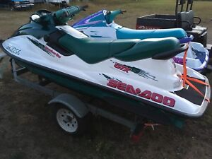 Pair of watercraft with trailer