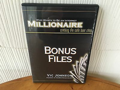 Who Wants To Be A Internet Millionaire By Vic Johnson - Seminar Workshop Course!