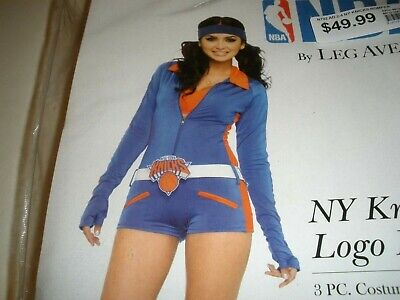 New York Knicks NBA Basketball Cheerleader Romper Woman's Costume Licensed - Nba Costumes