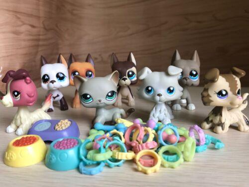 Купить 8lot Littlest Pet Shop LPS Toy Cat #391 Great Dane Dog Collie&4xAccessories Rare