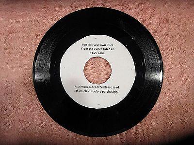 212ca62c96c Original Rock Soul Pop 45 rpm s from 50s to 80s - 1.25 each -