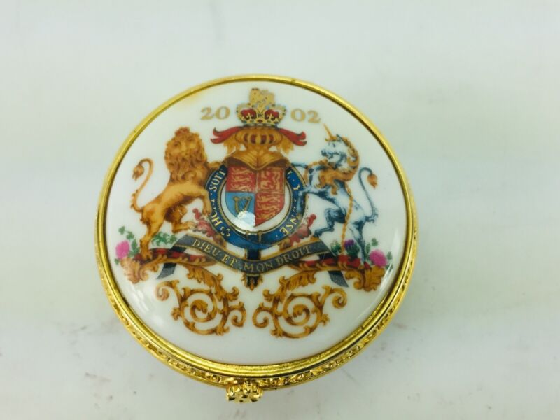 The Royal Collection Fine Bone China Trinket Box The Golden Jubilee 2002