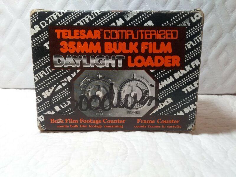 Telesar computerized 35mm bulk daylight film loader footage fram counter w/paper