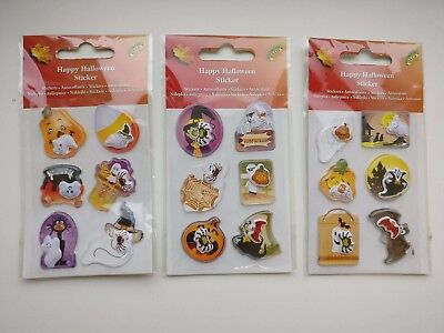 3D mit Wackelmotiv Sticker Happy Halloween Deko Basteln Aufkleber 129197813 (3d Happy Halloween)