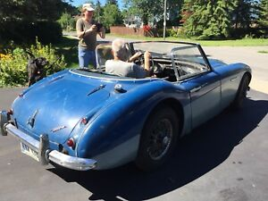 1961 Austin-Healey  3000 blue MK (BT7) 2+2 convertible