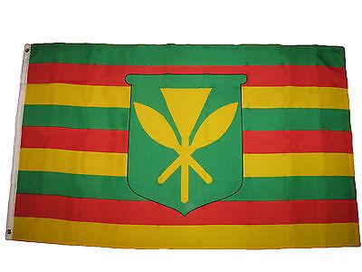 (2 Pack) 3x5 KANAKA MAOLI TRUE PEOPLE FLAG NATIVE HAWAII BANNER KAMEHAMEHA 3'X5'