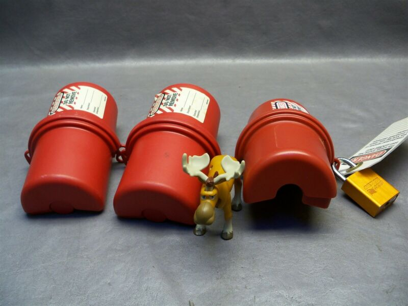 Master Lock Safety Series 488 Lockout Device Plus Lock (NO KEY) Lot of 3