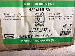 Case of Wall Boxes