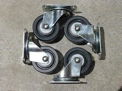 Lot Of 8 - 3 Swivel Plate Caster Polyolefin Delrin Bearing 176 Lb. Load Each