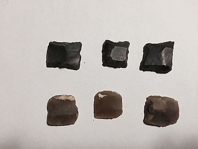 Original 18th Century British and French Flintlock Musket Flints - Lot of 6
