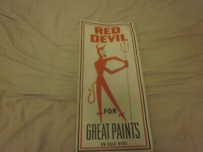 Vintage Red Devil For Great Paints On Sale Here Sticker