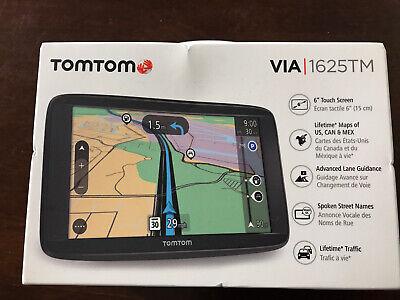 "TomTom VIA 1625TM, 6"" Touchscreen GPS Navigation Device, Black, Brand New Sealed"