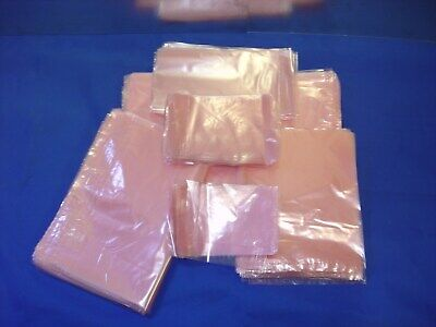 3 X 5 To 18x24 Pink Flat Anti-static Poly Bags 2mil Hard Drives Electronics