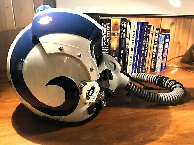 Item: US NAVY Pilot's Flight Helmet - Complete With Mask & Pull Down Mic