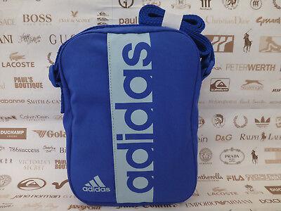 - ADIDAS Small Body Bag Canvas Shoulder Bags Blue Size S Organiser Messenger BNWT