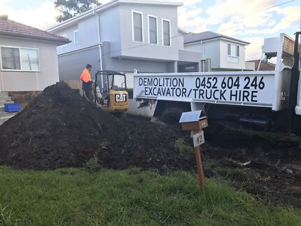 Dirt removal and concrete removal