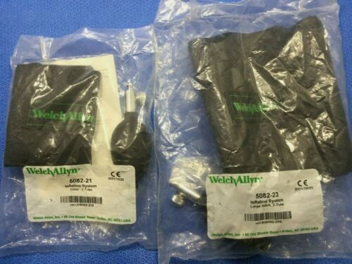 New Welch Allyn Adult & Child 2 Tube Inflation Systems/Blood Pressure Cuffs T/kp