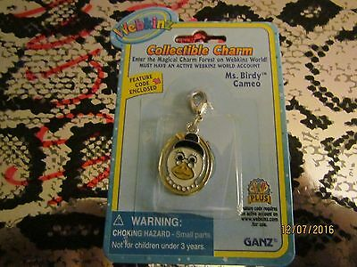 """WEBKINZ COLLECTIBLE CHARM """"MS.BIRDY CAMEO"""" FEATURE CODE ENCLOSED --RARE !!!"""