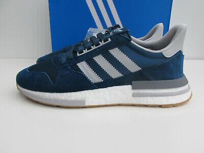 bnib ADIDAS ZX500 RM UK 8 F36882 Blue Night / Grey RRP £119 ZX 500 BOOST