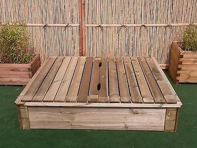 Sandkasten Deckel 150 x 150 cm Holz Sandbox Sandkiste Buddelkasten Spielkasten