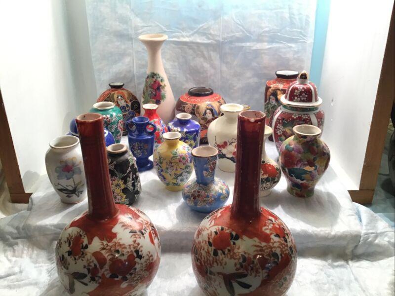 20 Oriental Asian Japanese Mini Bud Vase & Ginger Jar Floral Flowers Dollhouse