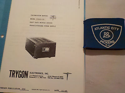 Trygon Phr40-3b Half Rack Module Power Supply Instruction Manual