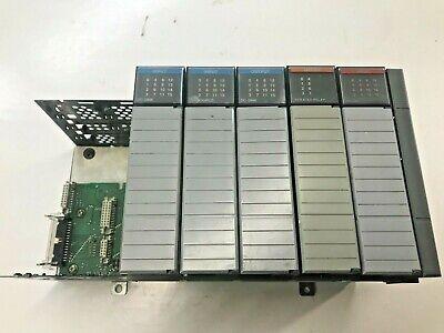 Allen Bradley Slc-500 1746- Inputoutput Card Assortment And Rack Lot