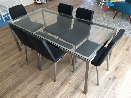 Freedom Signature Essentials Glass Top 8 Seat Table