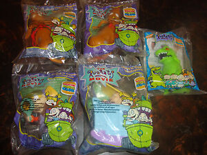 Burger-King-Rugrats-Movie-Lot-Of-5-Spike-2-Reptar-Angelica-1998-Sealed