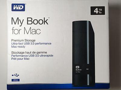 WESTERN DIGITAL WD MY BOOK MAC 4TB DESK WDBYCC0040HBK-NESN PORTABLE EXTERNAL HDD