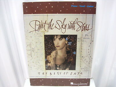 Best of Enya Paint the Sky with Stars Sheet Music Song Book Piano Vocal