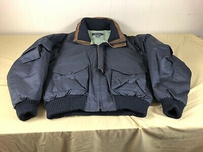 *RARE* NICE VTG 90s NAUTICA DUCK DOWN/LEATHER TRIM PUFFER SHAWL JACKET MENS XL