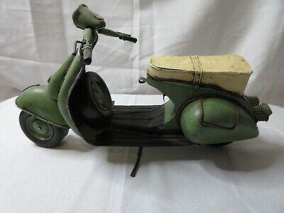 "Big 15"" Toy VESPA Scooter RALLY 180 Motorcycle DECOR TIN METAL - Vintage - Rare"