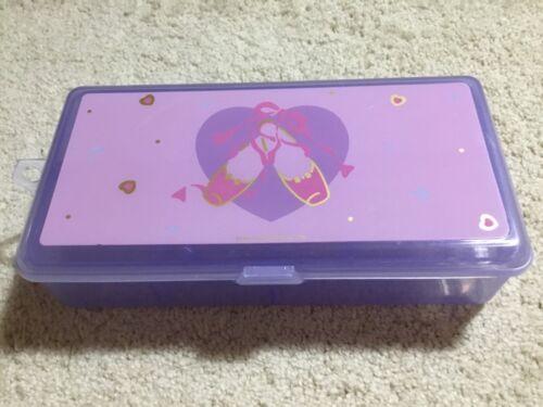 Vintage Sanrio 1990 ballet slippers plastic storage case box hello kitty