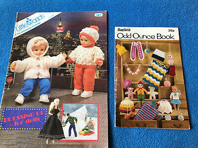 2 VINTAGE KNITTING PATTERNS DOLLS AND ODD OUNCE BOOK