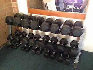 Dumbell set and bench Dunlop Belconnen Area Preview