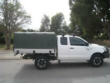 Canvas Canopy fits Hilux Extra Cab tray Mosman Park Cottesloe Area Preview